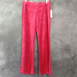 STYLE & CO | Red Velour Straight Leg Sweats Size M